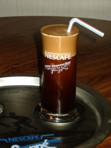 Frappe coffee drink