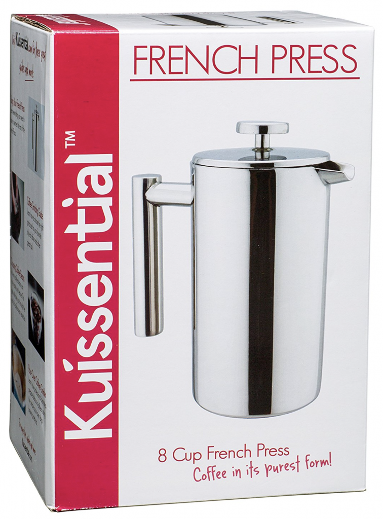 Kuissential 8-Cup Stainless Steel French Press - packaging