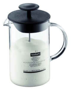 Bodum 1446-01US4 Latteo Milk Frother with Glass Handle, 8-Ounce