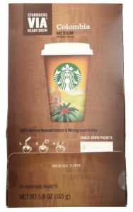Starbucks VIA Ready Brew Colombia coffee instant coffee