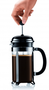 Bodum Chambord 8 cup French Press Coffee Maker - push plunger down