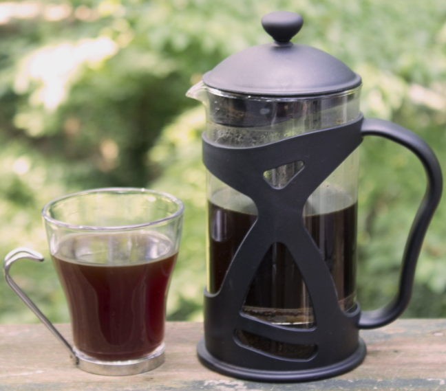 KONA French Press Coffee Tea & Espresso Maker - fresh coffee