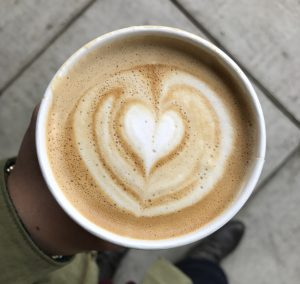 Latte Art with Heart Design